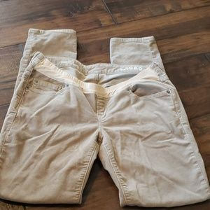 Gap maternity khaki cords skinny